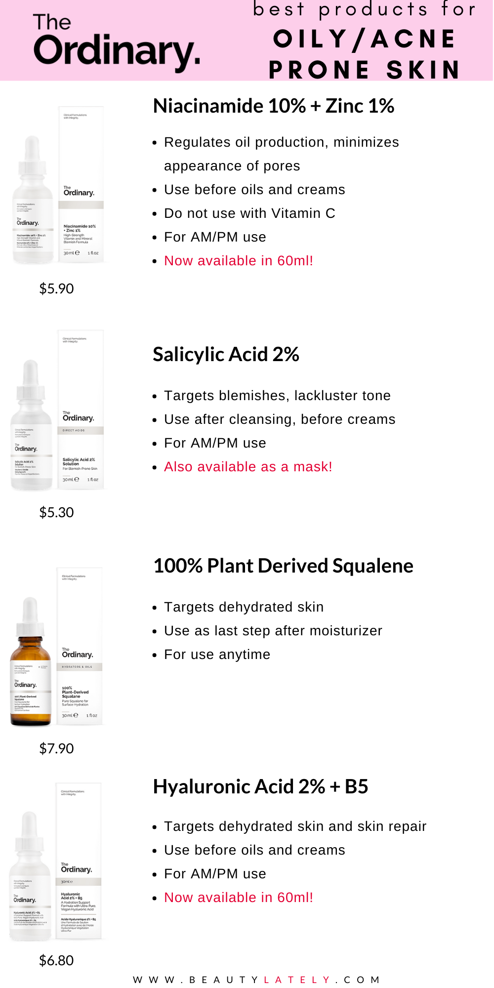 The Ordinary Skincare Guide To Oily Acne Prone Skin Effective Skin Care Products Skin Care Acne Oily Skin Care