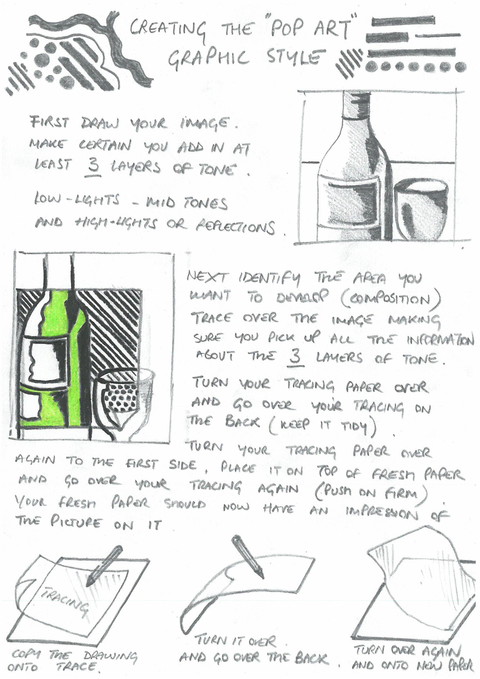 Pop Art Style Help Sheet 1