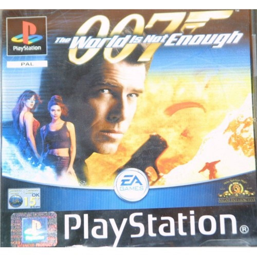 007 The World Is Not Enough For Sony Playstation 1 Ps1 Psx From