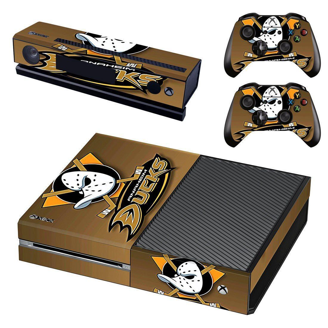 Anaheim Ducks Ice Hockey Team Skin Decal For Xbox One Console And Controllers Xbox One Console Xbox One Xbox One Skin