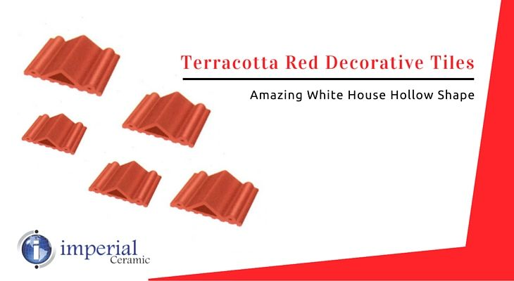 Best Terracotta Red Decorative Tiles White House Hollow 400 x 300