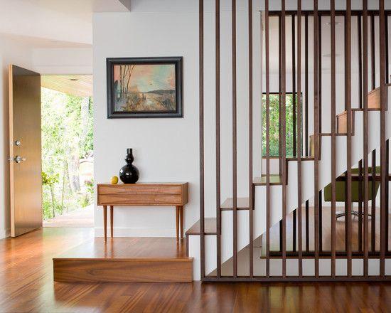 Staircase Balustrade Idea? vertical planks for a few feet ...