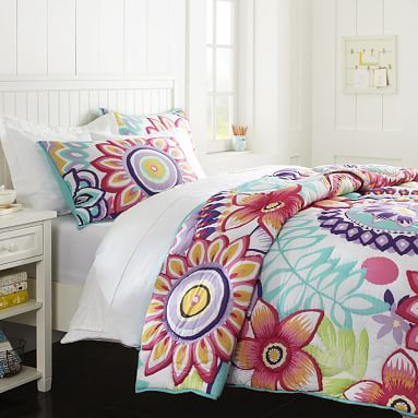 Keala Floral Surf Quilt, Twin | Room, Comforter and Bedrooms : tween quilts - Adamdwight.com