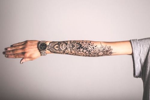 Half Sleeve From Wrist Up To Elbowarm Bend Tattoos Tattoos