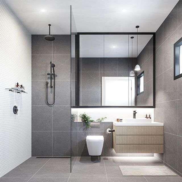 Come arredare il bagno con il grigio - Bagno grigio moderno | Lights ...