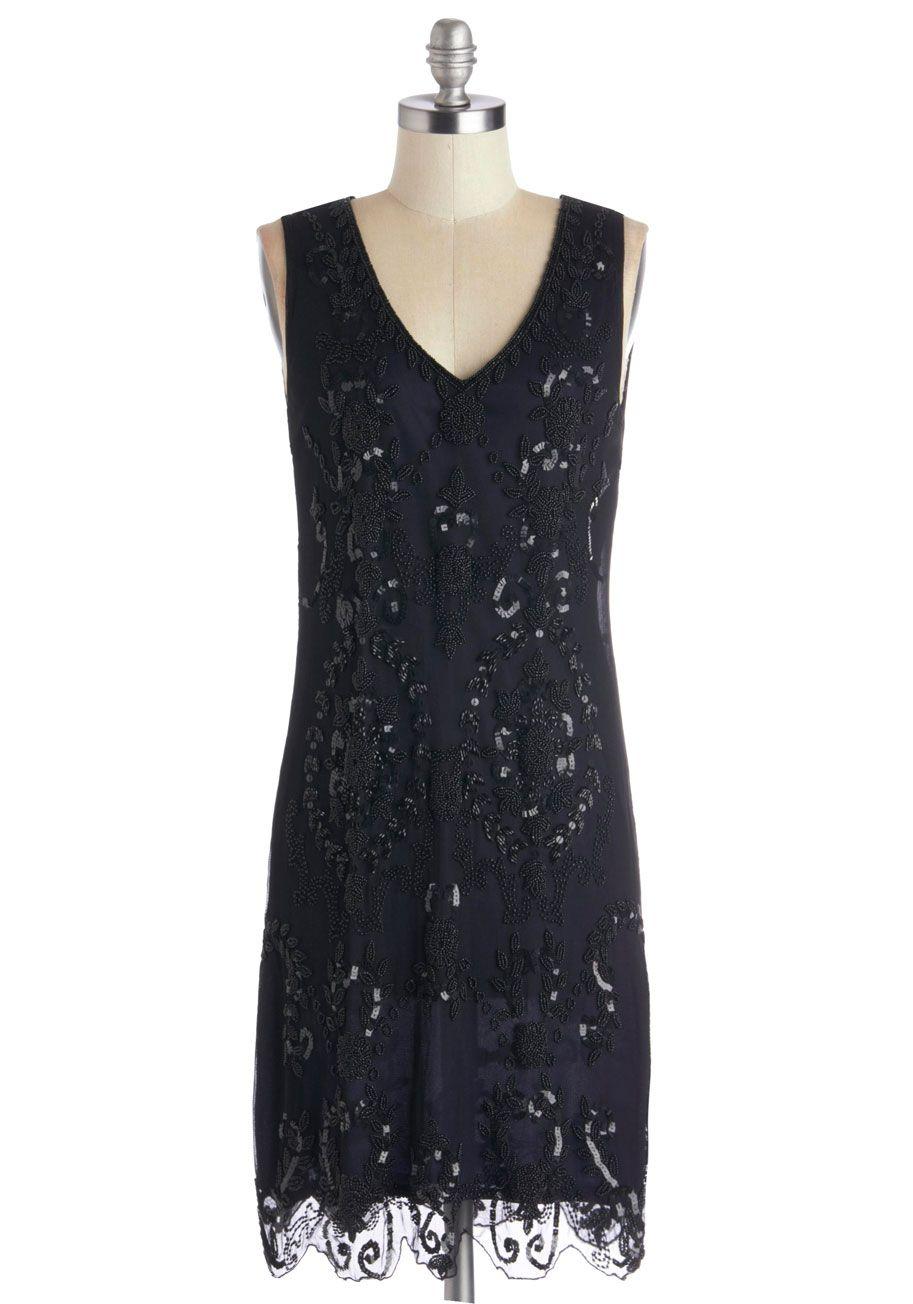 Black dress retro - Bead It Dress Mod Retro Vintage Dresses Modcloth Com