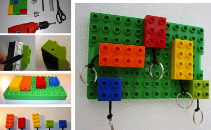 DIY Lego Key Rings and Wall Mount | upper sturt general store ...