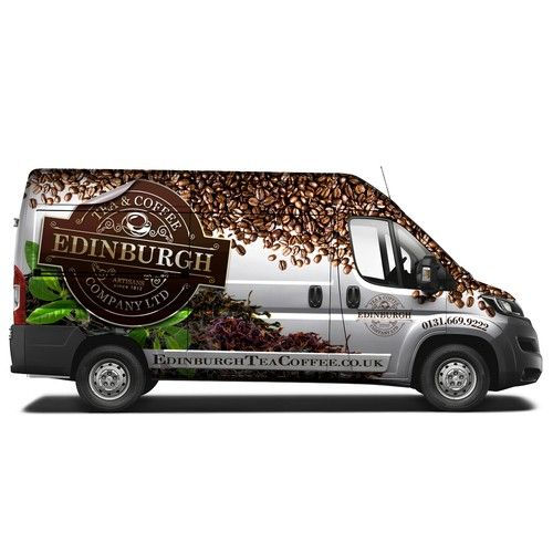 Design a show stopping van wrap for edinburgh tea and coffee co design by b