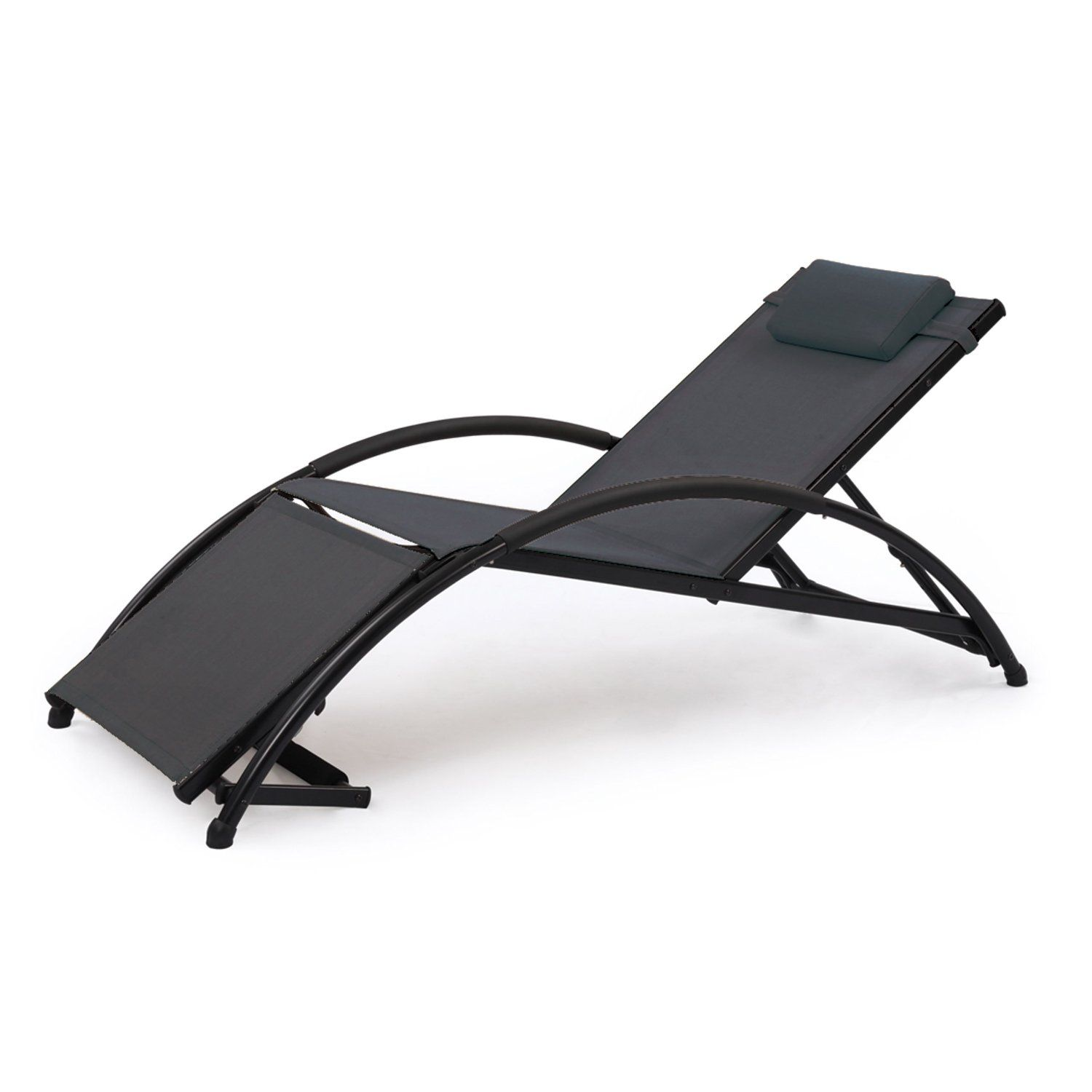 Jarder Adjustable Sun Lounger - Garden, Patio, Poolside (Black ... on chaise sofa sleeper, chaise recliner chair, chaise furniture,