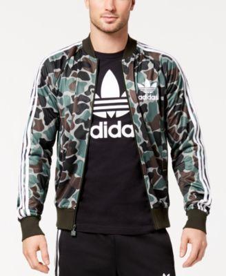 2ae2f6aeaedfd adidas Originals Men's Camo-Print Superstar Track Jacket - Green XL ...