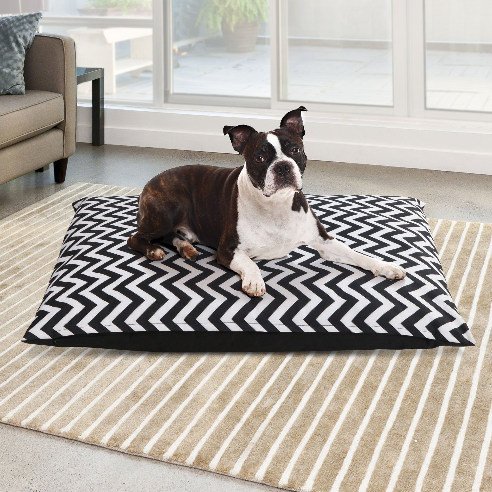 Extra Large Canvas Pet Bed Black & White in 2020 Pets