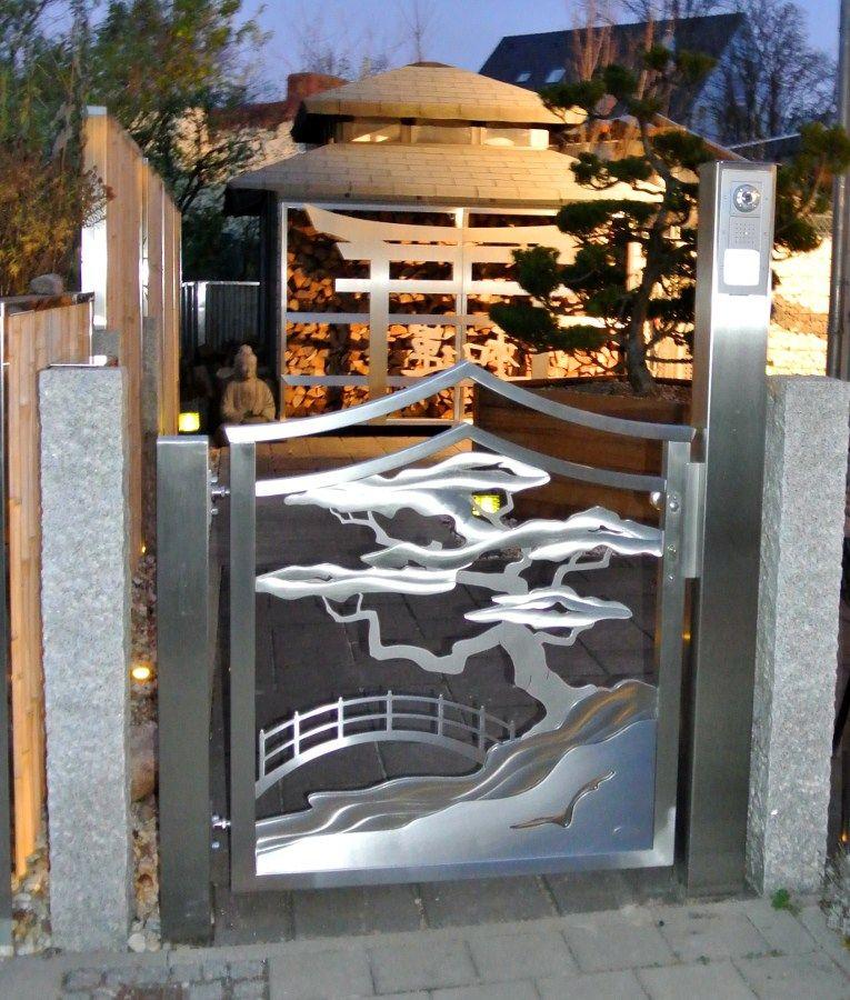 Edelstahl Gartentor 21 Originelle Gestaltungsideen No Plain Gates