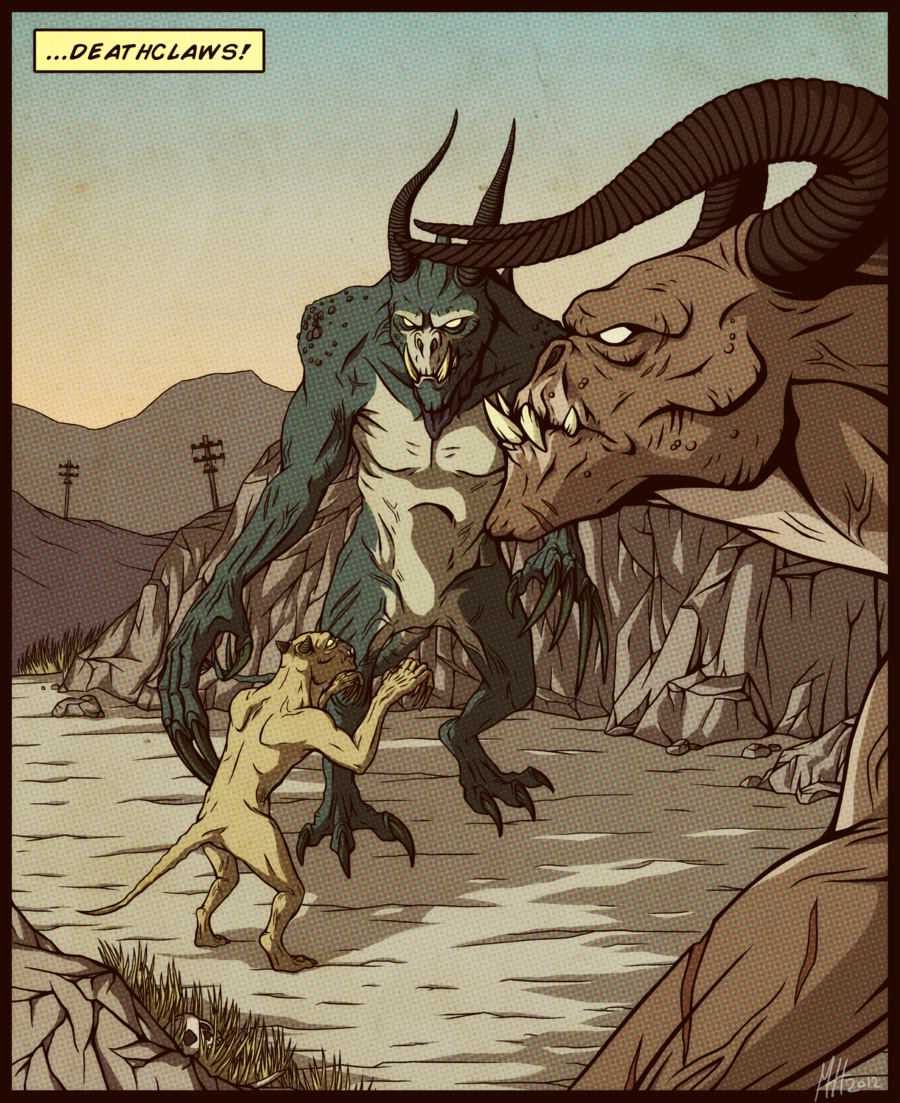 Deathclaws By Northwing Deviantart Com Fallout Art