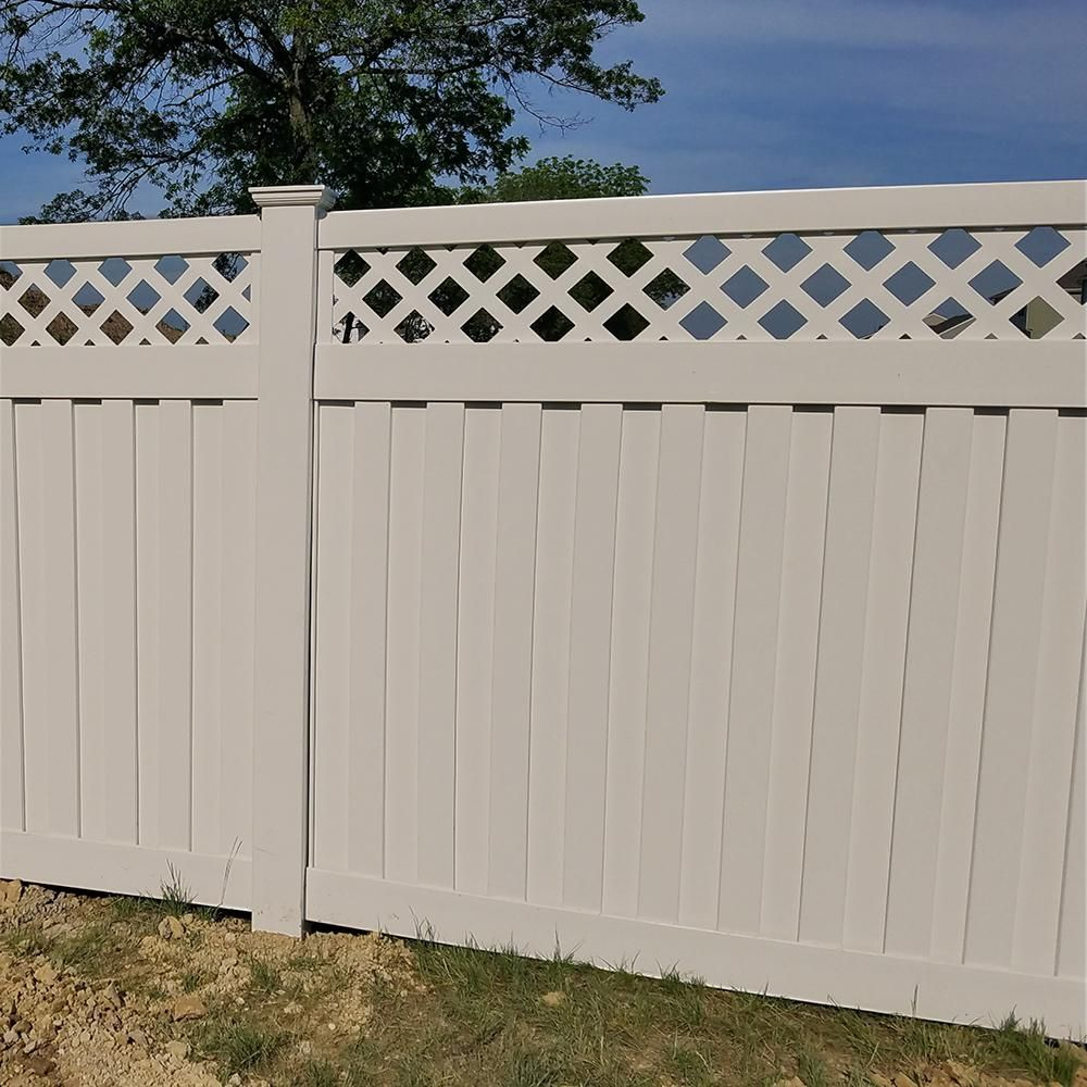 Weatherables Clearwater 6 Ft H X 6 Ft W Tan Vinyl Privacy Fence Panel Kit Ptpr Panellat 6x6 The Home Depot Vinyl Privacy Fence Privacy Fence Panels Fence Panels