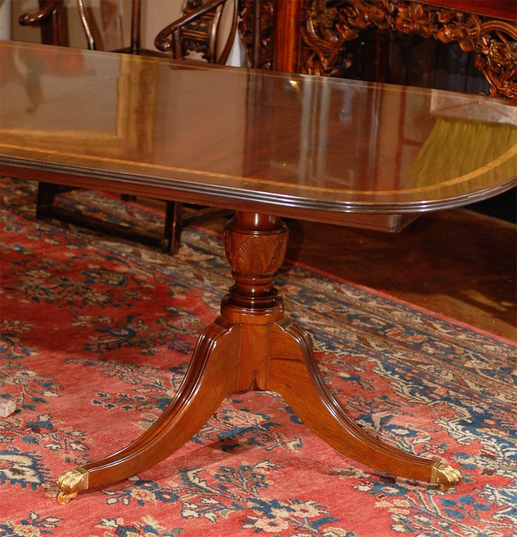 Sheraton Style Double Pedestal Dining Table Google Search Mahogany Dining Table Dining Table Double Pedestal Dining Table
