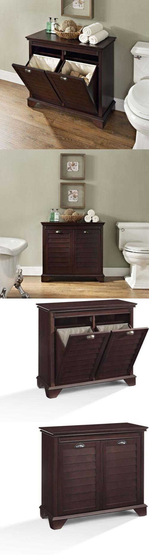 cabinet combo wood hamper out laundry tilt