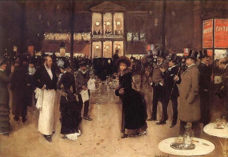 The Boulevard at Night in front of the Theatre des Varietes. 1883