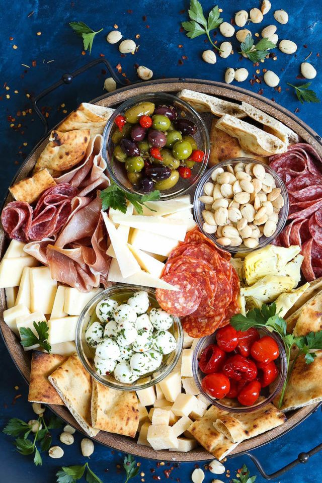 Antipasto Appetizer Cheese Board #charcuterieboard