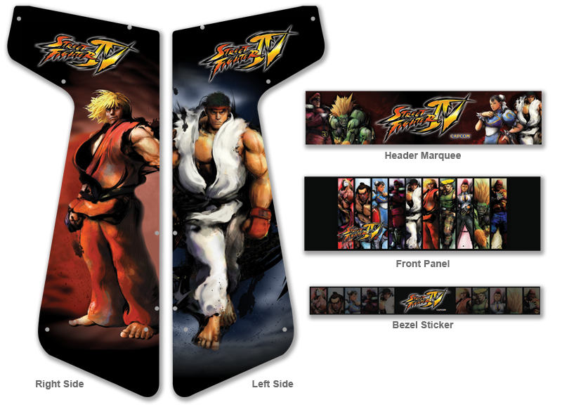 street fighter 4 layout