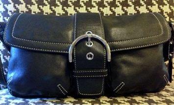 Coach Medium Soho Black Leather Hand - 3653 Shoulder Bag $135