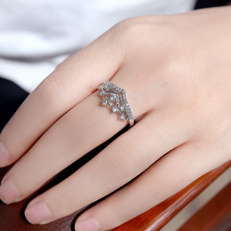 Korea style copper plating Ring (White gold color -19mm)NHLJ3305 ...