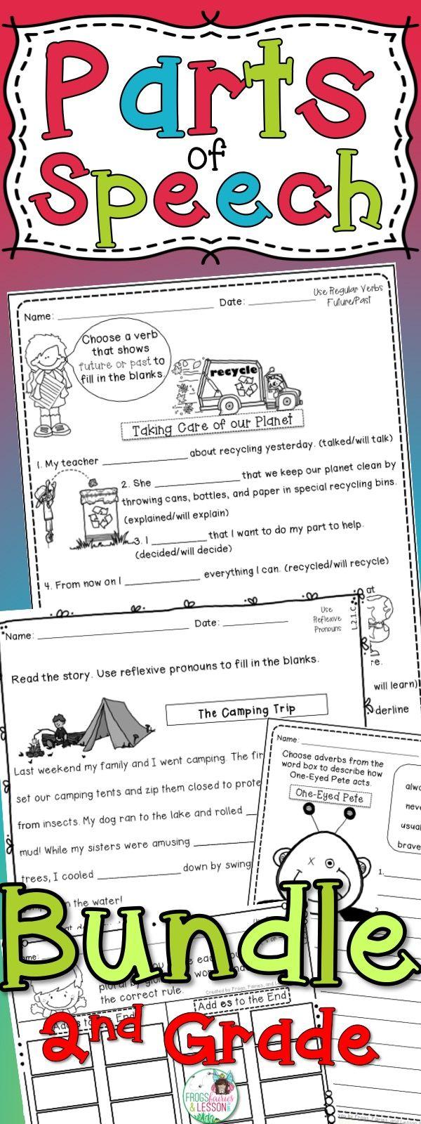 Parts Of Speech Activities 2nd Grade Bundle Pinterest Adverbs