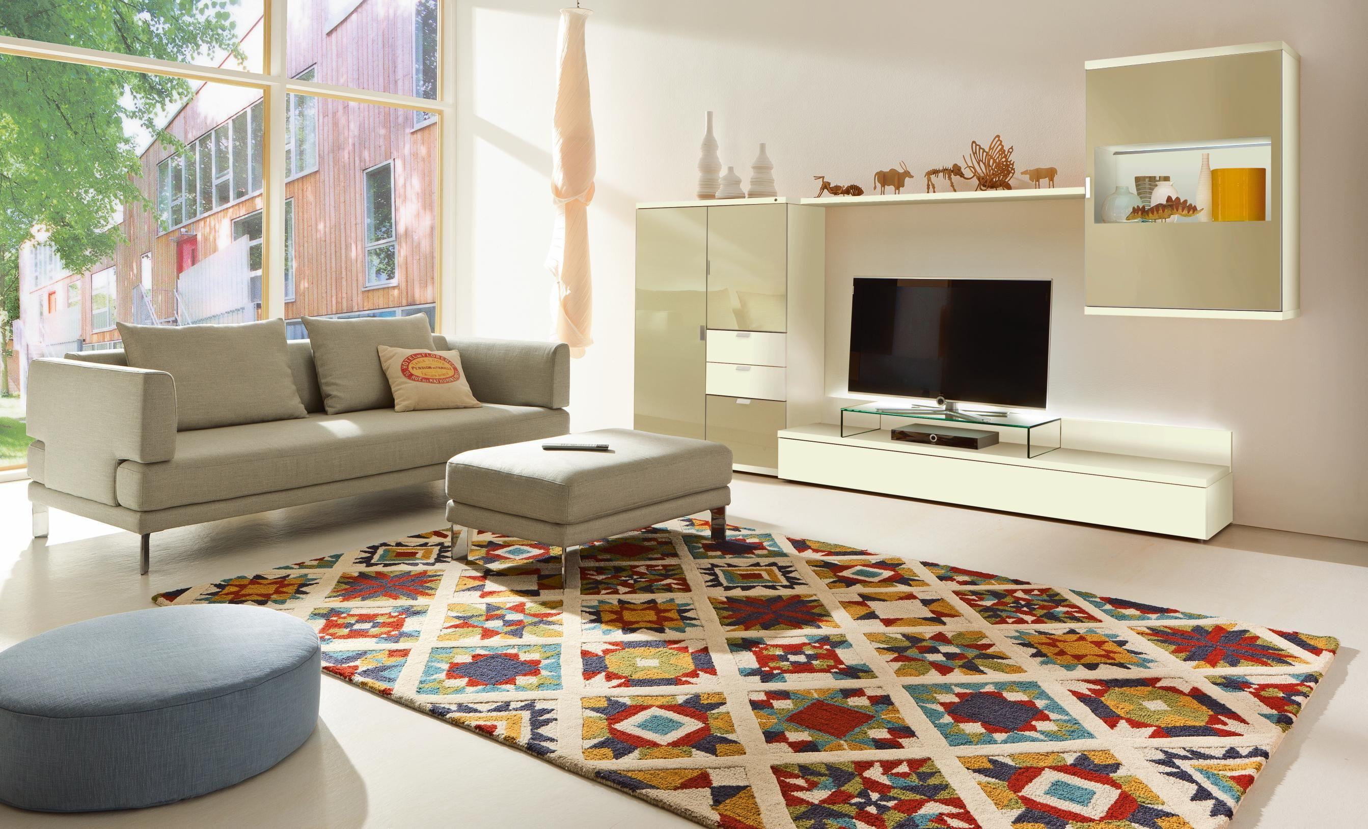 Wohnwand in sandfarben von HÜLSTA | Wohnwände | Pinterest