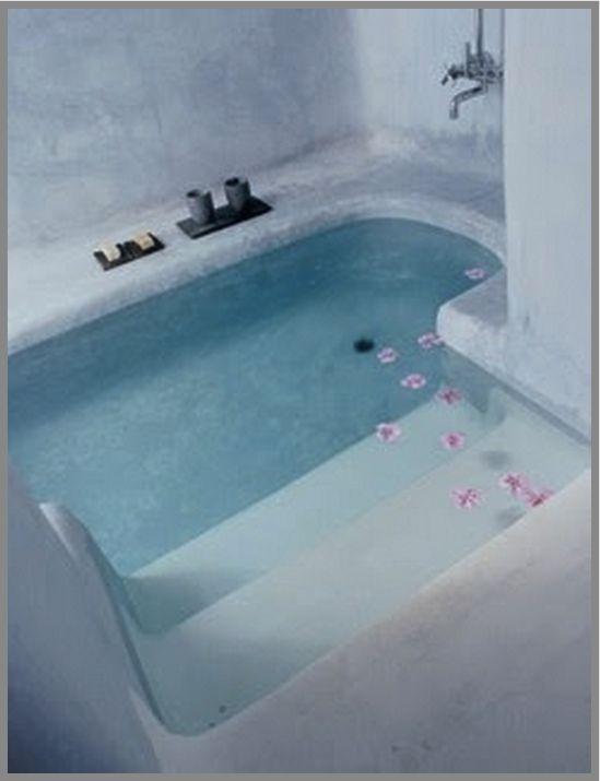Luxury sunken tub | House Design | Pinterest | Sunken tub, Tubs and ...