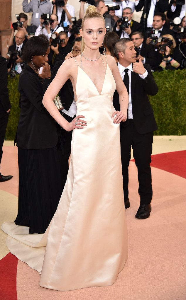 16679371f4 Elle Fanning from Met Gala 2016  Red Carpet Arrivals In Thakoon