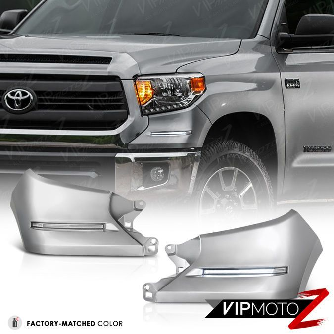 2014 2016 Toyota Tundra Trd Style Silver Led Smd Front D R L Fog Lights Lamp Toyota Tundra Toyota Tundra Trd 2016 Toyota Tundra