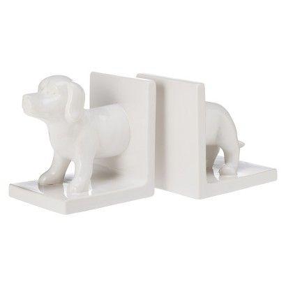 Dog Ceramic Bookend Set