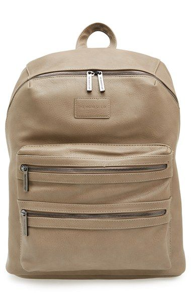 Faux Leather Diaper Backpack