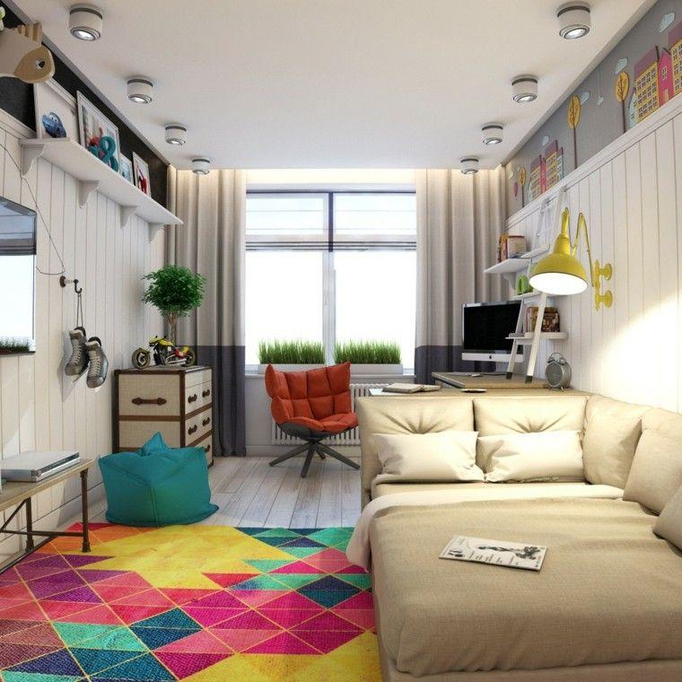 Dormitorio juvenil ideas originales para tu chico cuarto for Decoracion habitacion juvenil chico