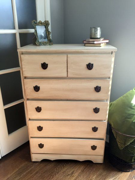 Chest of Drawers finished in General Finishes Antique White & Van Dyke  Glaze Effects & sealed - Chest Of Drawers Finished In General Finishes Antique White & Van
