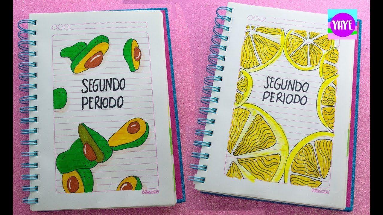 IDEA HERMOSA PARA DIBUJAR SEGUNDO PERIODO Cómo marcar cuadernos Yaye Como marcar cuadernos