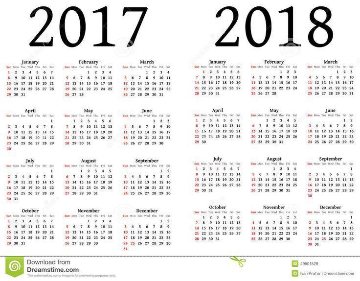 calendrier 2018 a imprimer diy
