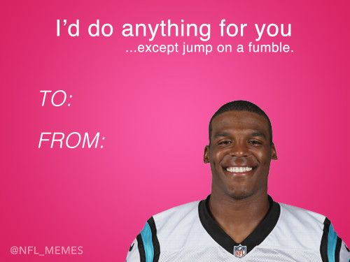 Cards Sports Memes Newton Cam Funny p Valentine Nfl Day