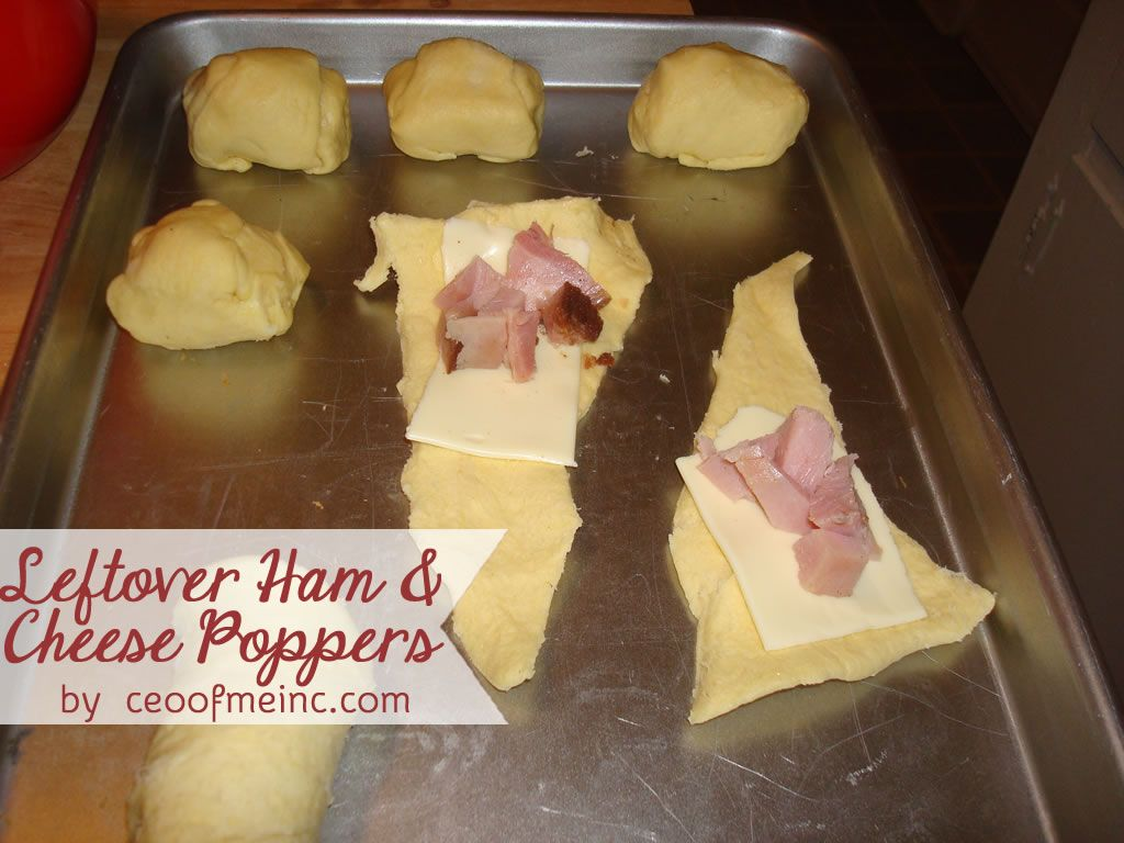 Leftover Ham Cheese Poppers Kids Said These Were Delicious Can T Go Wrong W Bread And Cheese