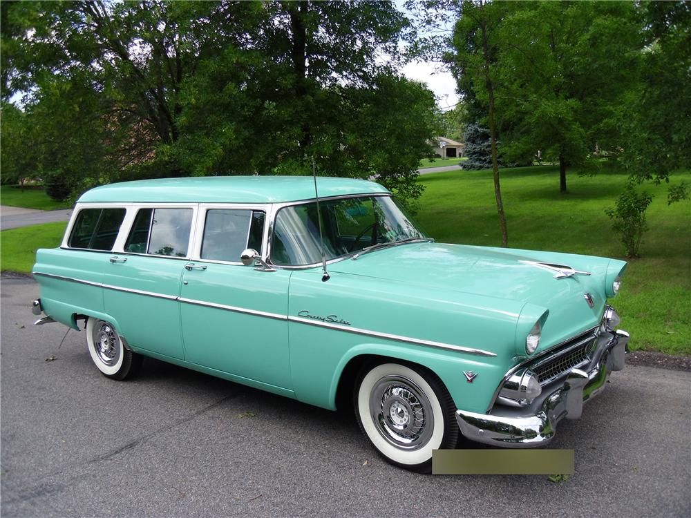 Barrett Jackson Lot 35 1 1955 Ford Country Sedan Wagon Classic Cars Trucks Station Wagon Cars Cool Old Cars