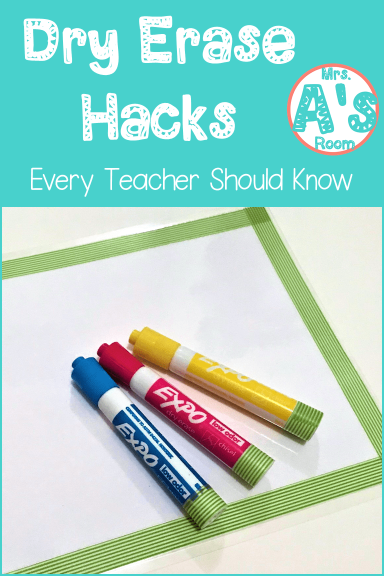Four Dry Erase Hacks That Are Easy To Do And Won T Cost You A Fortune Dry Erase Dry Erase Markers Hacks