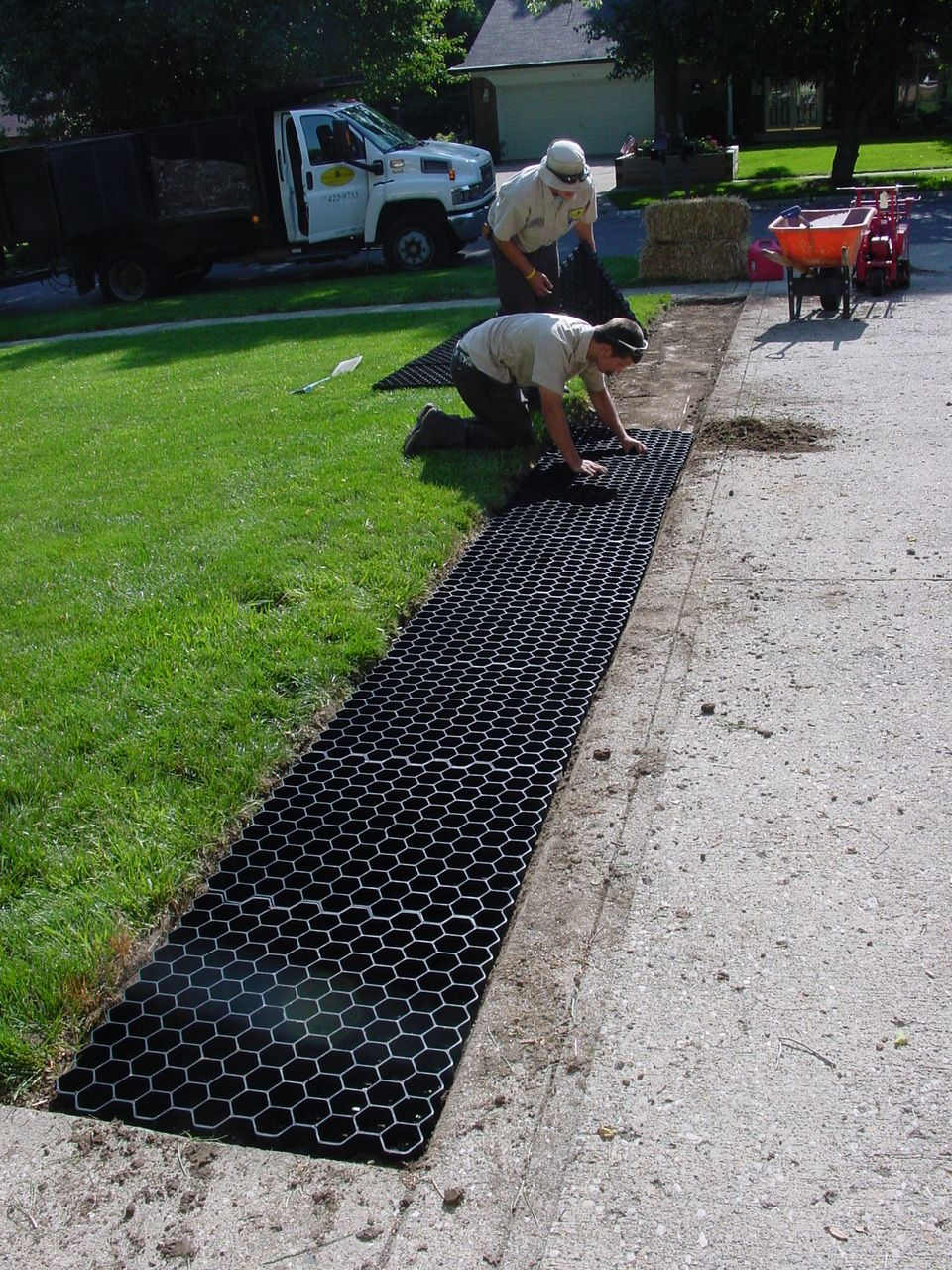 Nds Tufftrack Grassroad Pavers Each In 2020 Gravel Landscaping Driveway Landscaping Backyard Drainage