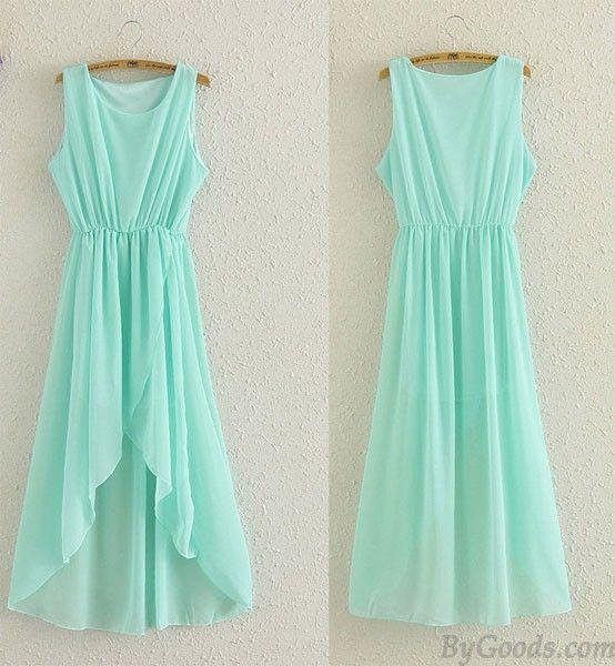 Chiffon Infinity Dress: Fashion Perspective Mint Green Irregular Chiffon Dress