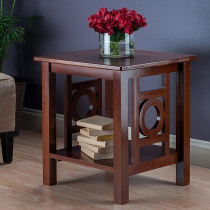 Winsome Wood Ollie End Table Walnut
