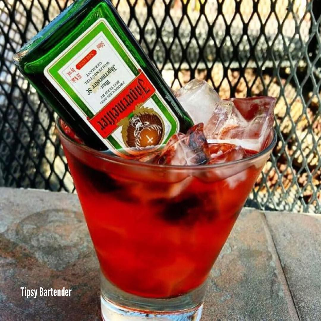 Red Headed Slut With A Twist Cranberry Juice Peach Schnapps Small Bottle Of Jagermeister