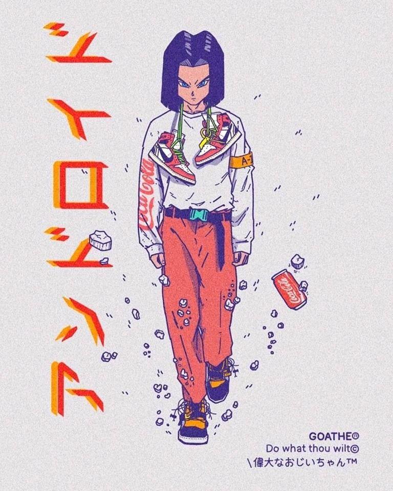 [ART] Android 17 Hipster illustration, Art, Manga