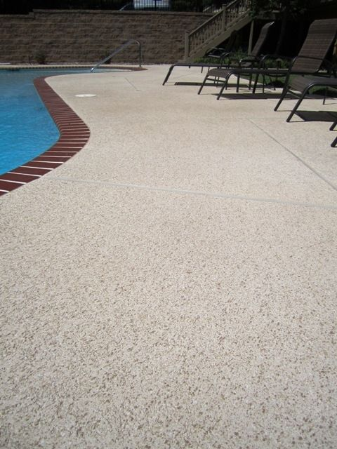 Aggregate Effects Sundek Concrete Coatings And Concrete Repair Cool Deck Pool Houses Concrete Pool