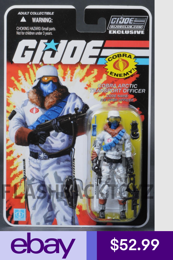 G.I Joe Club Exclusif FSS 7.0 Ice Viper Officer-Cobra Arctic transport