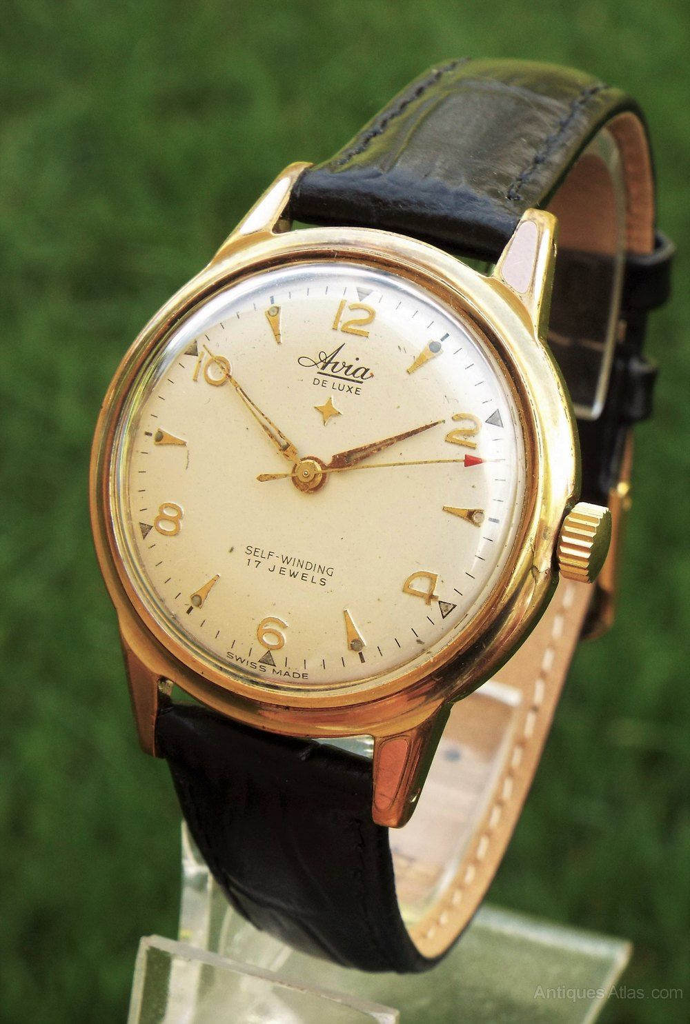 Antiques Atlas Gents 1950s Avia De Luxe Wrist Watch Vintage Watches For Men Antique Watches Wrist Watch