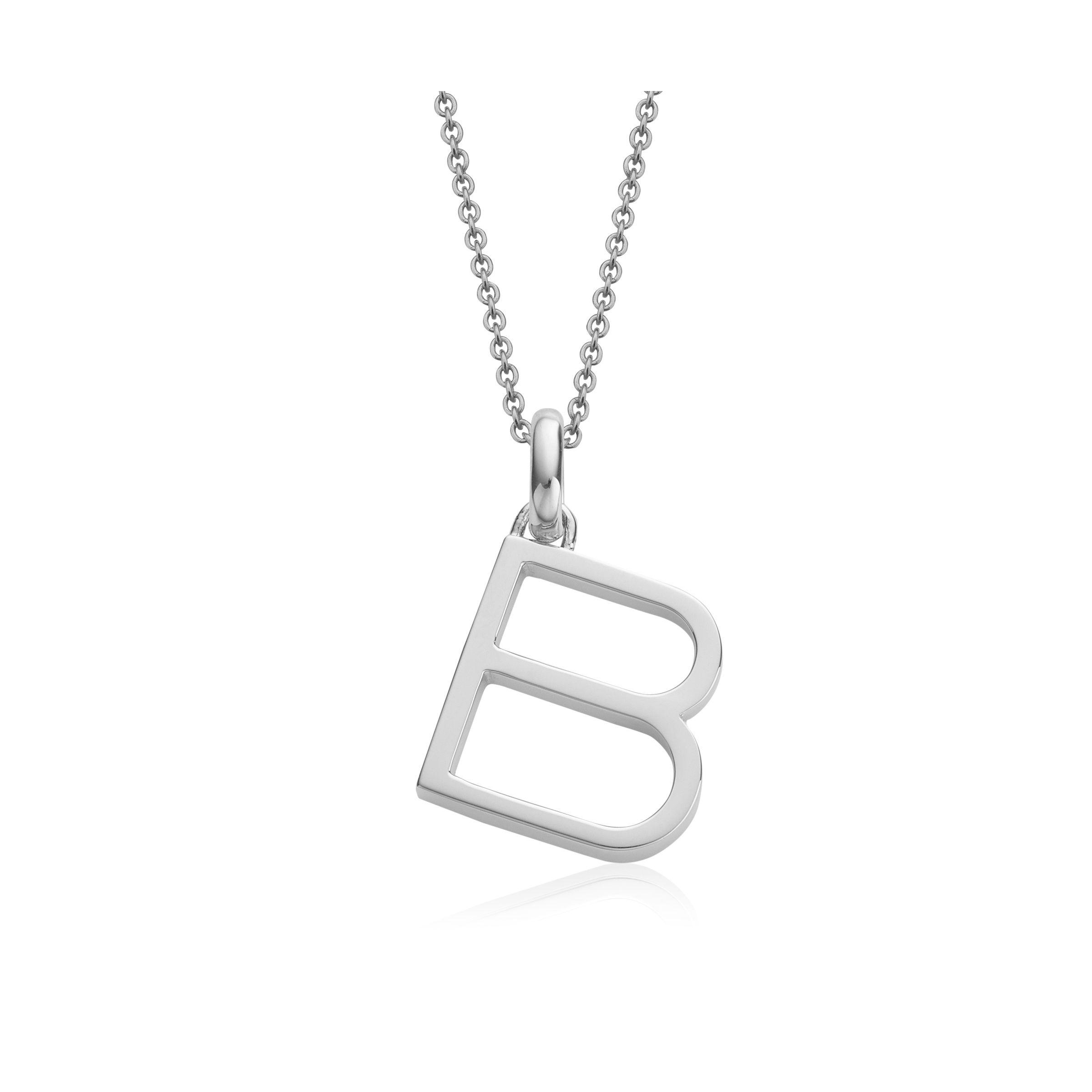 Alphabet Pendant S, Sterling Silver Monica Vinader