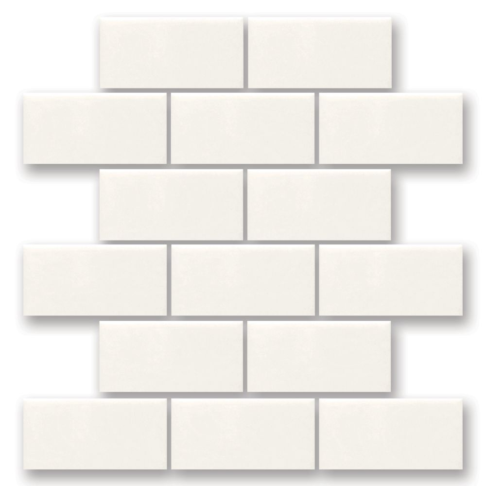 Finesse 12 Inch X 12 Inch X 8 Mm Ceramic Mosaic Wall Tile In White Mosaic Wall Tiles Tiles Daltile